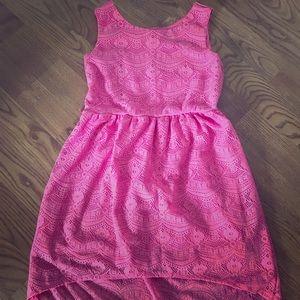 Girls Hi-low Lace Dress